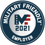 Military Friendly 2020, 2018, 2017, 2015, 2014, 2011 & 2010